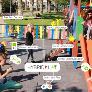Hybrid Play Turns Playgrounds into Video Games
