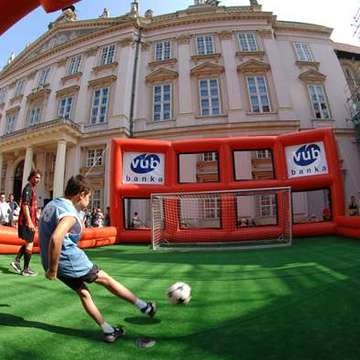 Kick-Point Brings Football to Parties and Events