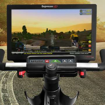Expresso HD Upright Bike Uses Real Steering and Active Resistance to Deliver Virtual Rides